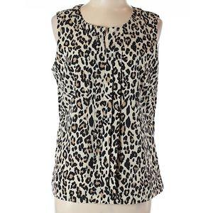 Banana Republic leopard print sleeveless top Sz M